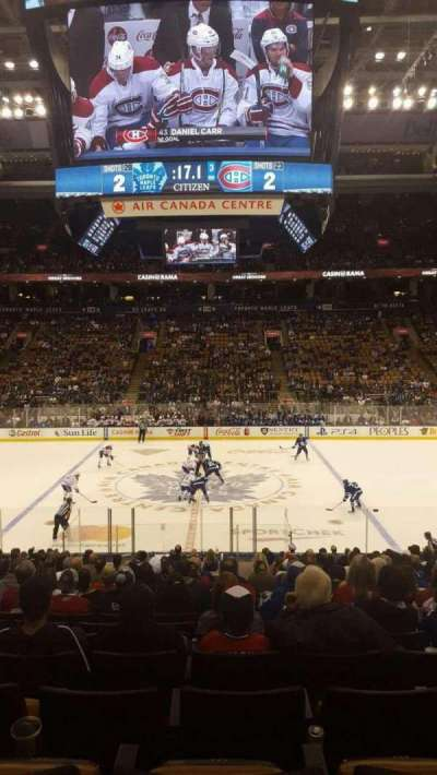 Air Canada Centre, section: 108, row: 22