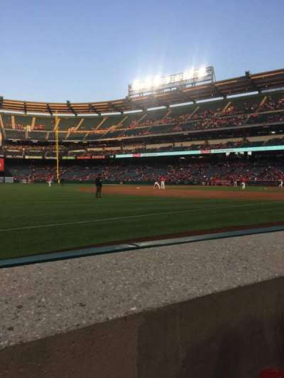 Angel Stadium, section: F108, row: A, seat: 3