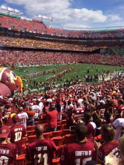 FedEx Field, section: 206, row: 1, seat: 11