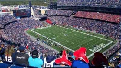 Gillette Stadium, section: 324, row: 26, seat: 20