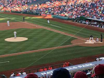 Nationals Park, section: 208, row: H, seat: 11