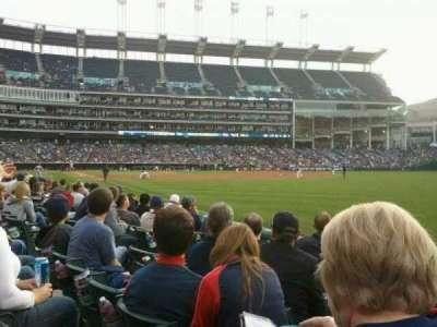 Progressive Field, section: 117, row: F, seat: 7