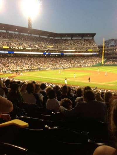 PNC Park, section: 108, row: AA, seat: 12