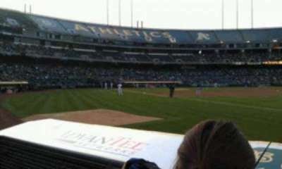 Oakland Alameda Coliseum, section: 106, row: 2, seat: 10