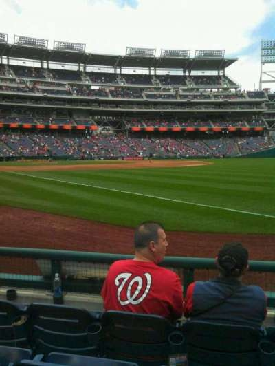 Nationals Park, section: 135, row: d, seat: 3