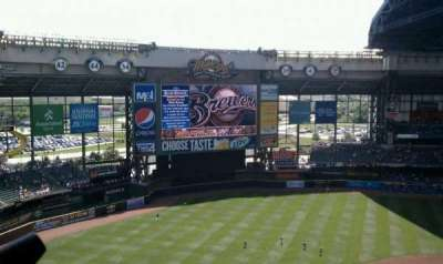 Miller Park, section: 430, row: 17, seat: 1