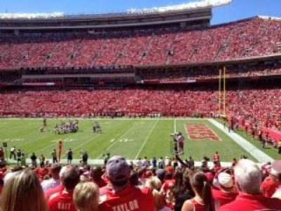 Arrowhead Stadium, section: 134, row: 26