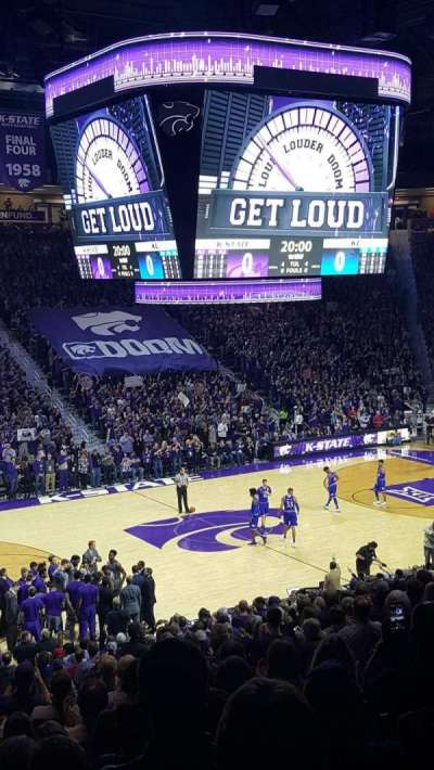 Bramlage Coliseum, section: 8, row: 22, seat: 8