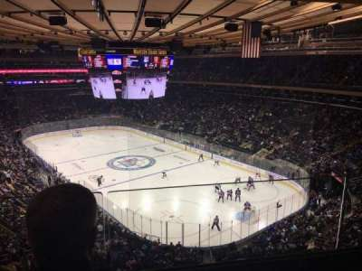 Madison Square Garden, section: 414, row: 2, seat: 8