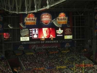 University of Phoenix Stadium section 434
