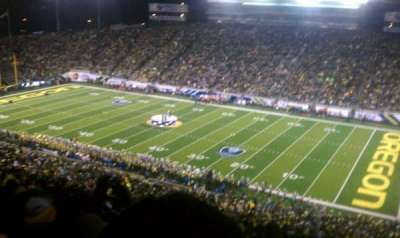 Autzen Stadium, section: 27, row: 74, seat: 13