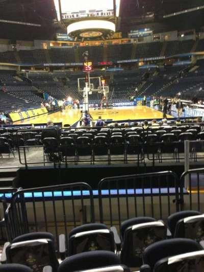 Bridgestone Arena, section: 101, row: EE, seat: 8