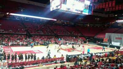Xfinity Center (Maryland), section: 126, row: 3, seat: 17