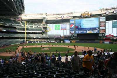 Miller Park, section: 115, row: 21, seat: 10