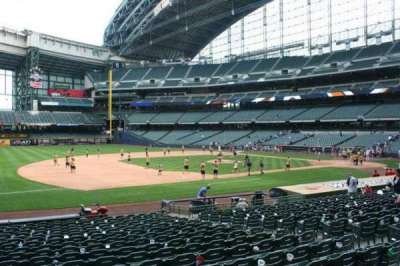 Miller Park, section: 124, row: 19, seat: 10