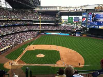 Miller Park, section: 414, row: 3, seat: 30