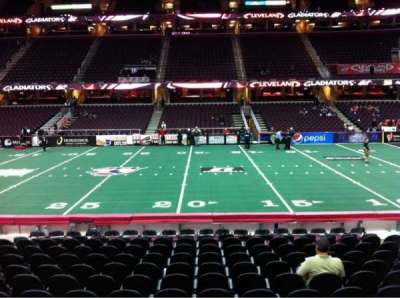Quicken Loans Arena, section: 109, row: 14, seat: 10
