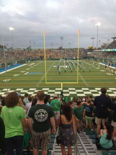 Yulman Stadium, section: 128, row: DD, seat: 1