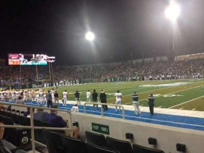 Yulman Stadium, section: 108, row: D, seat: 9