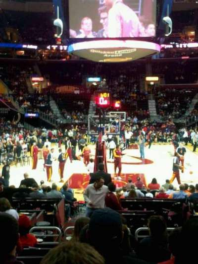 Quicken Loans Arena, section: 100, row: 9, seat: 13