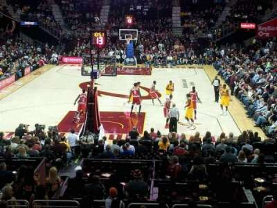 Quicken Loans Arena, section: 100, row: 15, seat: 14