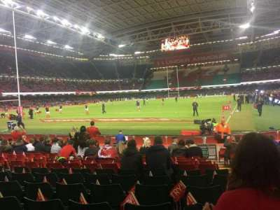 Principality stadium, section: L17, row: 15, seat: 12