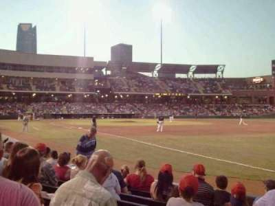 Chickasaw Bricktown Ballpark, section: 118, row: G, seat: 4