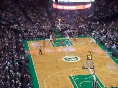 TD Garden, section: Bal 325, row: 14