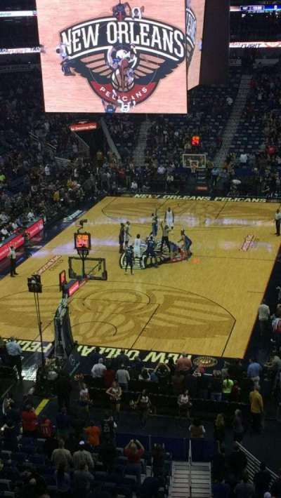 Smoothie King Center, section: 323, row: 1, seat: 1