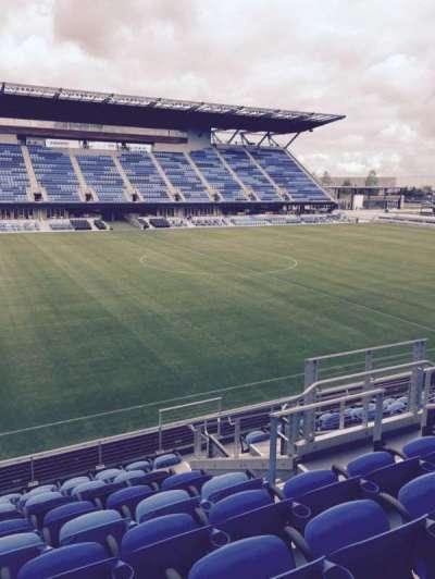 Avaya Stadium, section: 126, row: 10, seat: 7