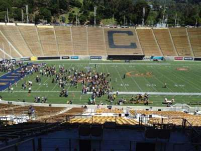 California Memorial Stadium, section: G, row: 43, seat: 8
