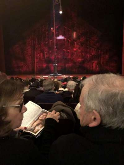 Longacre Theatre, section: Orch, row: L, seat: 105