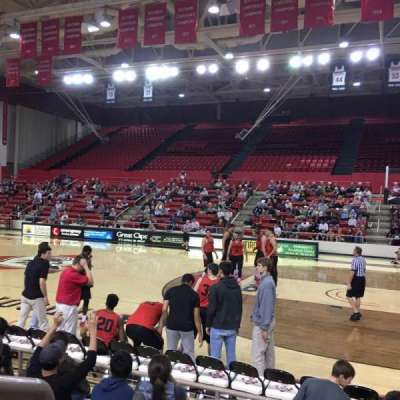John M. Belk Arena, section: 6, row: C, seat: 1
