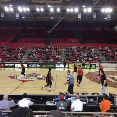 John M. Belk Arena, section: 10, row: B, seat: 1