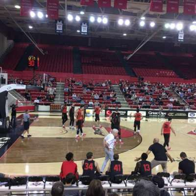 John M. Belk Arena, section: 12, row: E, seat: 1