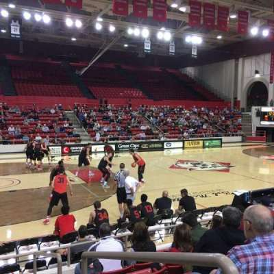 John M. Belk Arena, section: 14, row: G, seat: 1