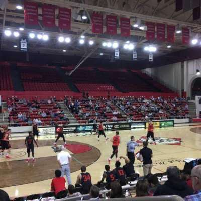 John M. Belk Arena, section: 14, row: G, seat: 1