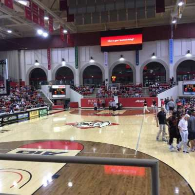 John M. Belk Arena, section: 18, row: B, seat: 1