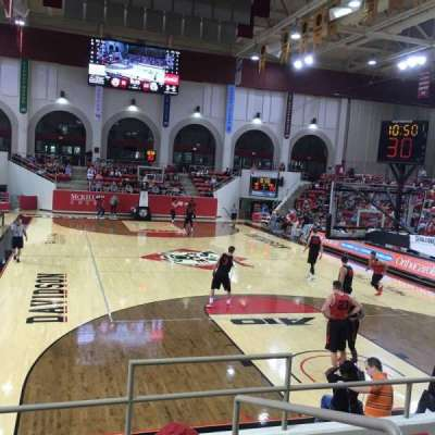 John M. Belk Arena, section: 19, row: E, seat: 3