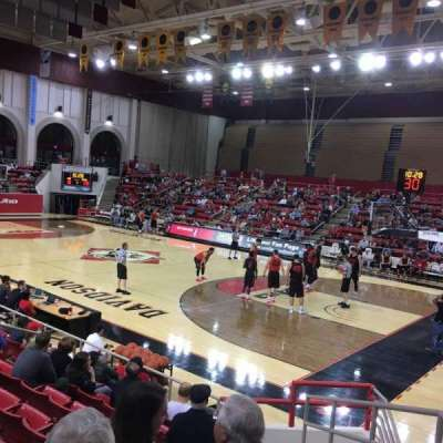 John M. Belk Arena, section: 17, row: E, seat: 1