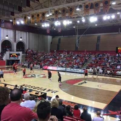 John M. Belk Arena, section: 15, row: G, seat: 1