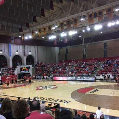 John M. Belk Arena, section: 15, row: G, seat: 1