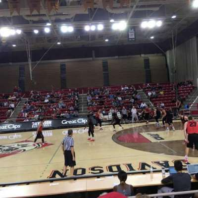 John M. Belk Arena, section: 13, row: C, seat: 1