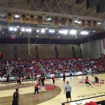 John M. Belk Arena, section: 7, row: C, seat: 3