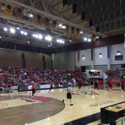 John M. Belk Arena, section: 5, row: D, seat: 2