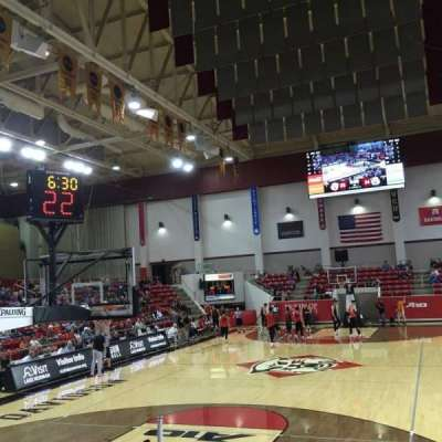 John M. Belk Arena, section: 3, row: E, seat: 1