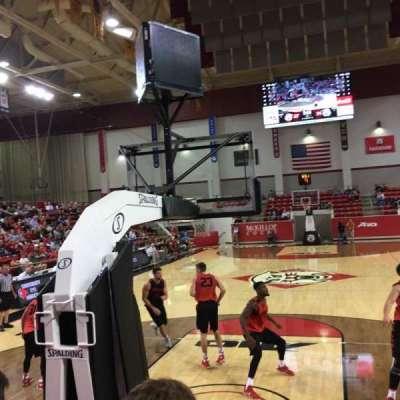 John M. Belk Arena, section: 1, row: B, seat: 1