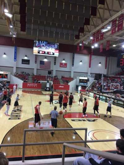 John M. Belk Arena, section: 3, row: D, seat: 1