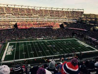 Gillette Stadium, section: 334, row: 17, seat: 20
