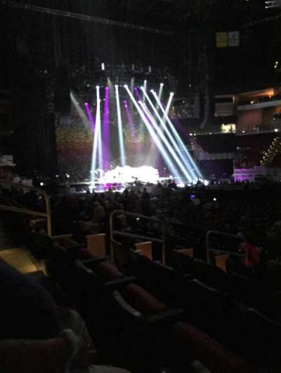 KFC Yum! Center, section: 115, row: H, seat: 10